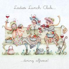 Cards » Ladies Lunch Club » Ladies Lunch Club - Berni Parker Designs