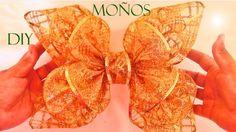 DIY Moños flores y lazos de Navidad en cintas - Ribbons and bows Christm...