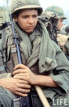 Soldier of the Vietnam War.- just as much a soldier, and deserves a soldiers respect
