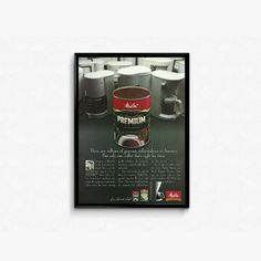 Coffee Advertisement Melitta Le Grand Cafe Premium Coffee Advertising 90s Morning Coffee Drink Extra Fine Coffee Can Retro Breakfast Product by RetroPapers