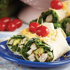 Grilled Chicken & Zucchini Wraps | MyRecipes.com