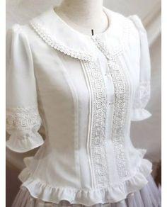 Vintage Pure White Lace Lolita Blouse - - Vintage Pure White Lace Lolita Blouse Source by twidhammer Vintage Outfits, Vintage Fashion, Cute Blouses, Blouses For Women, Japanese Fashion, Asian Fashion, Mode Lolita, Vintage Mode, Blouse Designs