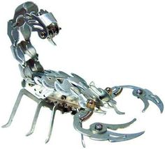 Elenco OWI Samurai Scorpion Aluminum Kit by Elenco. $11.90. From the Manufacturer                Almost lifelike, Build a Scorpion that you assemble from metal and bendable aluminum parts. The Samurai Scorpion is comprised of two major parts: head and body. The head consists of a pair of eyes, mouth, and claws used to capture prey. Body consists of eight legs, tail and curved aculeus (stinger). Did you know that scorpions are nocturnal? They often feed at night...
