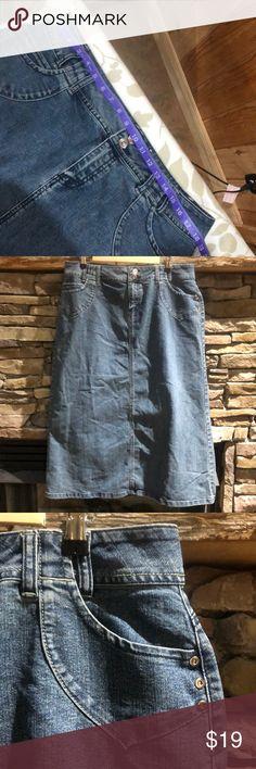 708d307ee7 Ladies Denim Jean skirt NICE NO SPLITS Length: ,34