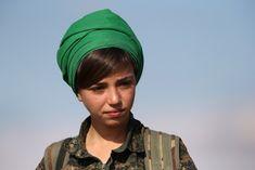 Kurdish fighter anti isis and Shiite terrorists