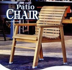 Patio Chair Plans - Outdoor Furniture Plans and Projects | WoodArchivist.com