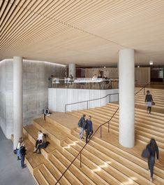 The Maersk Tower Adam Moerk … – Educational Architecture Architecture Courtyard, Interior Architecture, Grand Staircase, Stairs, Modern Foyer, Interior Design Presentation, Mix Use Building, Tower Design, Design Art
