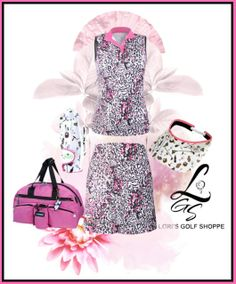 A pretty chic golf set brought to you by lorisgolfshoppe.polyvore.com #golf #fashion #ootd #polyvore