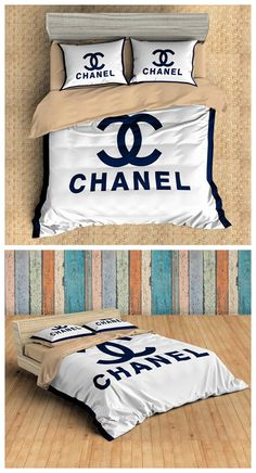 Customize Fashion Brands CHANEL Bedding Set Duvet Cover Set Bedroom Set Bedlinen Microfiber,Soft and Comfortable. Dyeing,Never Lose Color. Newest Design,Fashion Brands,Fashion and Personality. Bedding And Curtain Sets, Best Bedding Sets, Duvet Bedding Sets, Quilt Bedding, Comforters, Luxury Bedroom Sets, King Bedroom Sets, Master Bedroom, Cosy Bedroom