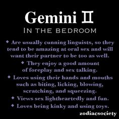 Gemini woman sextrology turn ons