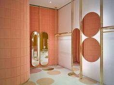 The new London store, located on the popular Sloane Street, combines India Mahdavi's signature style with the youthful vibe of the Red Valentino brand.