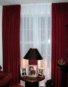 Use Red And White Curtains For A Sophisticated An Elegant Look Drapery Room Ideas