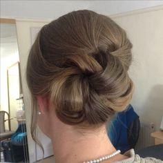Elegant. Classic. Coil. Brown hair styles. Wedding Hair And Makeup, Hair Makeup, Brown Hair, Wedding Hairstyles, Braids, Blush, Elegant, Hair Styles, Classic