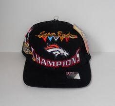 Denver Broncos Logo Athletic Snapback 1998 Locker Room Cap Superbowl XXXII   eBay