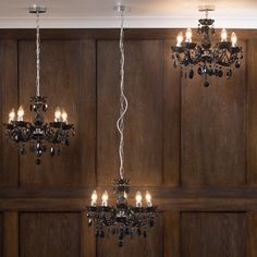 Marie Therese 5 Light Dual Mount Chandelier - Black from Litecraft