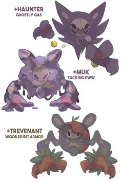 Pokemon crossbreed variations featuring my... - rad mangoes