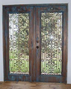 alexandercook | COLLECTION - faux wrought iron on metal doors