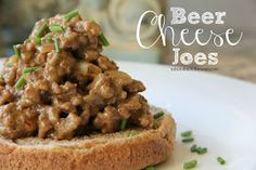 Mix and Match Mama: Dinner Tonight: Beer Cheese Joes