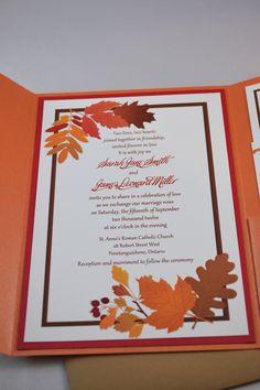 Printable PDF Fall Wedding Invitations for the DIY Bride. $35,00, via Etsy.