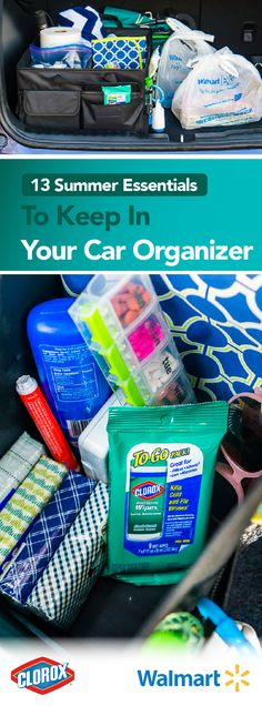 From day camps to endless trips to the park, your car becomes your right-hand man in the summertime. If your family is also always on the go, check out this Summer Essentials Trunk Organizer featuring Clorox®To Go Packs. Keeping your car tidy and stocked with everything you might need has never been easier. Head to the travel section at Walmart to pick up these must-haves today!