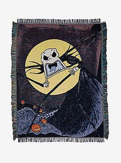 The Nightmare Before Christmas Scary Jack Woven Tapestry Throw Blanket,