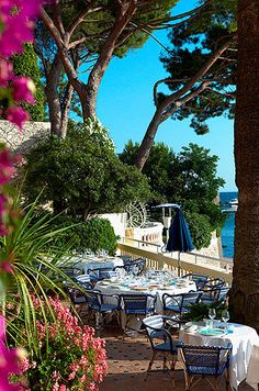 Hôtel Belles-Rives - Small luxury hotel on the waterfront in the French Riviera town of Juan-les-Pins. Exquisite!