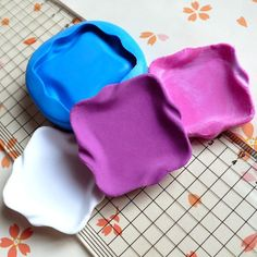 Flexible Silicone Mold Square Plate Mold 35mm Dollhouse Miniature Kawaii Deco Fimo Polymer Clay Jewelry Cabochon Resin Wax Push Mold MD730 on Etsy, $7.50 AUD