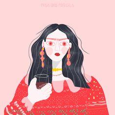 Frida inspired me - well that's obvious :D . . . . . . . . . #wine #illustration #fridakahlo #editorialillustration #print #wallart #graphicdesigner #vectorillustration #vectorart #procreateart #drink #redwine #wienerin #ladieswhodraw #fashionillustration #artwork #myart #illustratorsoninstagram #picame #ballpitmag #poscarddesign #carddesign #sweaterweather #artist #woman #womenofillustration #weareillustration #weloveillustration Illustrators On Instagram, Pencil Illustration, Sweater Weather, Pigs, Vector Art, Graphic Design, Drink, Photo And Video, Inspired