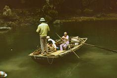 1989, Fischer am Mekong Delta Südvietnam;     1989, Fishermen on the Mekong Delta South-Vietnam;
