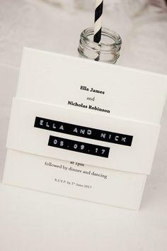 HipTwist Stationery ChaCha Collection - Luxury Wedding Invitations Stationery Retro theme monochrome personalised