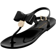 Jelly Bow T-Bar Sandal Black Jelly ($230) ❤ liked on Polyvore