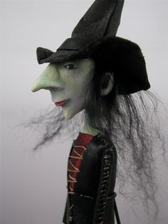 Folk Art Halloween Witch Doll - Love this!