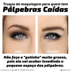 """Truque de maquiagem: Olho """"gatinho"""" para pálpebras caídas"""