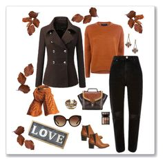 Brown Coat by knitsbynat on Polyvore featuring Office, Knits By Nat, Michael Kors and Parlane
