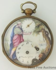 Rare Dial Vaucher Freres Verge Fusee Keywind Antique Pocket Watch #VaucherFreres