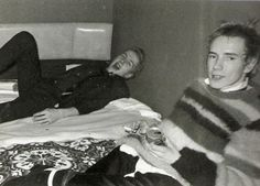 Joe Strummer and Jonny Rotten