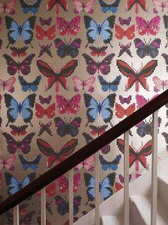 Butterfly House by Osborne & Little - Multi - Wallpaper : Wallpaper Direct