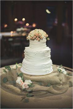Rustic Wedding Cake - Rachel Wells Photography
