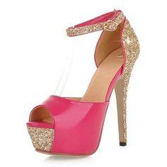 Glitter Size 32-43 Sexy High Heels Platform Shoes Pumps