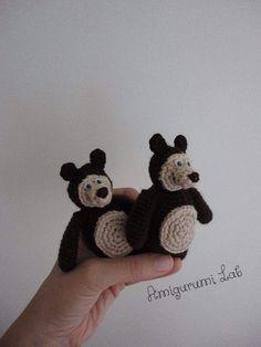 Masha y ganchillo amigurumi oso