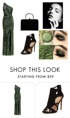 """Festive evening"" by deyanafashion ❤ liked on Polyvore featuring Badgley Mischka and Boohoo"
