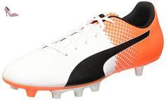 Puma Evospeed 5,5 Fg Chaussure de Football Blanc/Noir/Orange Shocking 11 - Chaussures puma (*Partner-Link)