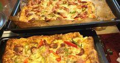 Πίτσα έχουμε φάει σίγουρα με ότι υλικά προτιμά ο καθένας...αλλά η νοστιμιά αυτής της ζύμης δεν λέγετε...   Υλικά για τη ζύμη: ... Lasagna, Quiche, Pizza, Breakfast, Ethnic Recipes, Food, Morning Coffee, Essen, Quiches