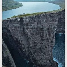 Lake Sorvagsvatn, Faroe Islands 30m above the Ocean. #ventureout