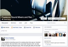 Freelance Sounds Mixers and Recordists. I was accepted into a closed group of freelance sound recordists just before the start of this film. This facebook group has been able to keep me up to date with interesting recording devices and also shows me how sounds recordists overcome general issues. I have learnt a huge range of things thanks to this FaceBook group.