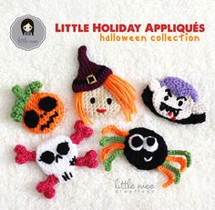 Ravelry: Little Holiday Appliques: Halloween pattern by Doris Yu