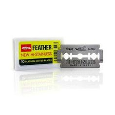 Feather New Hi-Stainless Platinum Coated Doubled Edged Razor Blade Review