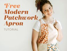 Free Modern Patchwork Apron Tutorial - Suzy Quilts