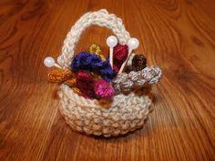 #ILoveYarnHoliday  Yarn basket ornament (or fridge magnet)