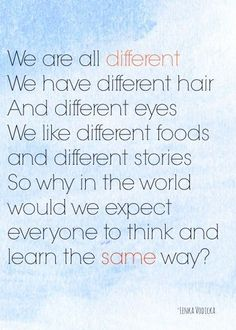 AMEN!!!! All children are different and do not do the same things at the same times.